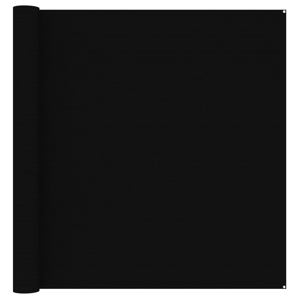 Zeltteppich 300x400 cm Schwarz