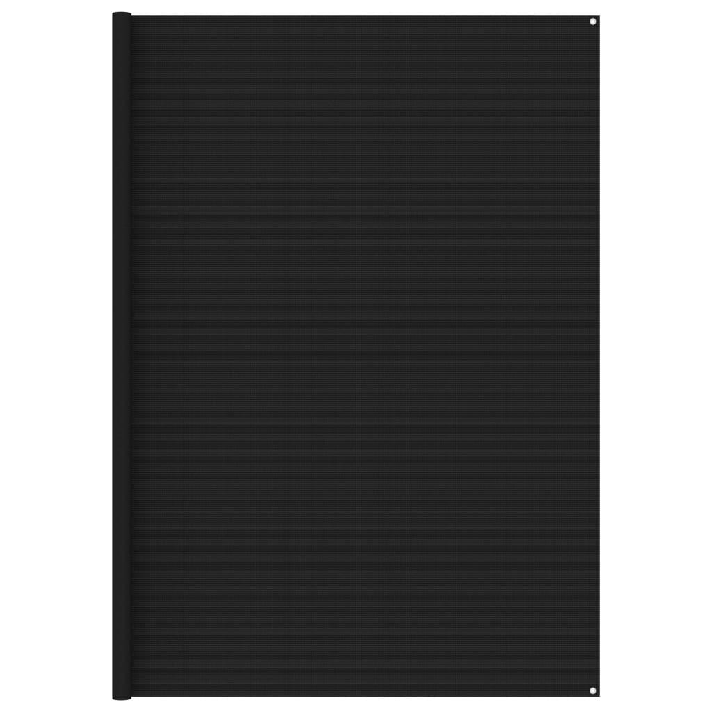 Zeltteppich 300x600 cm Schwarz