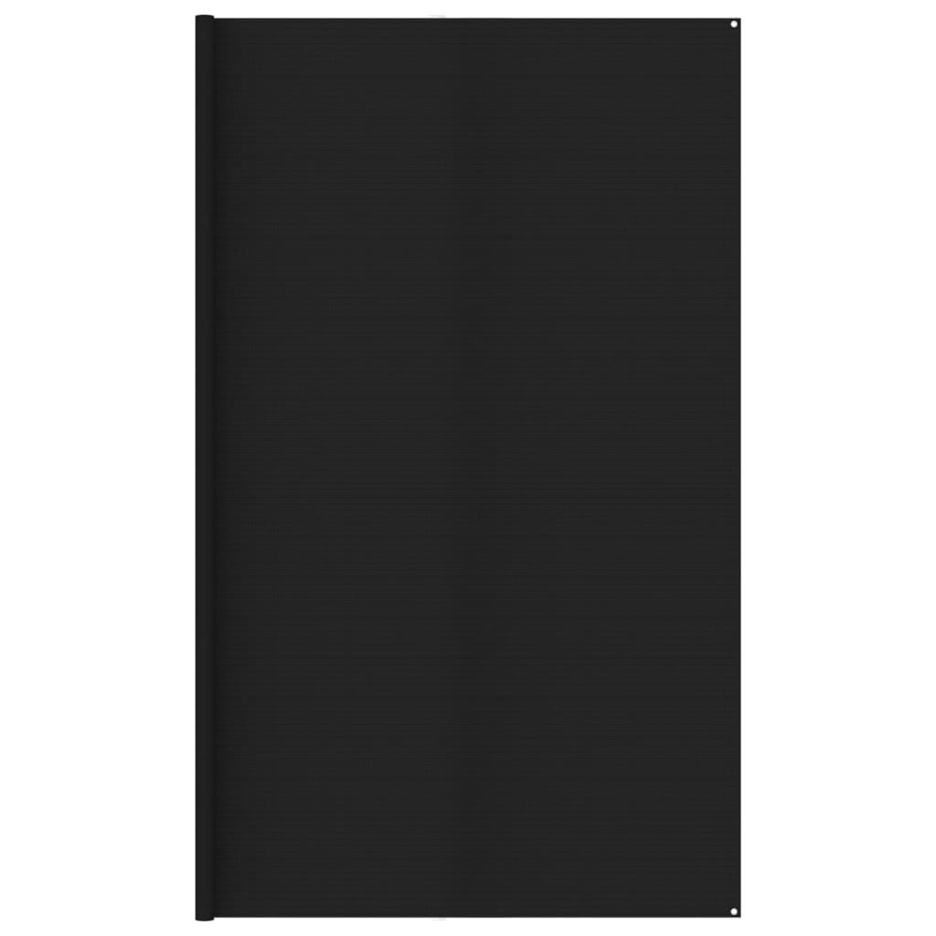 Zeltteppich 400x500 cm Schwarz