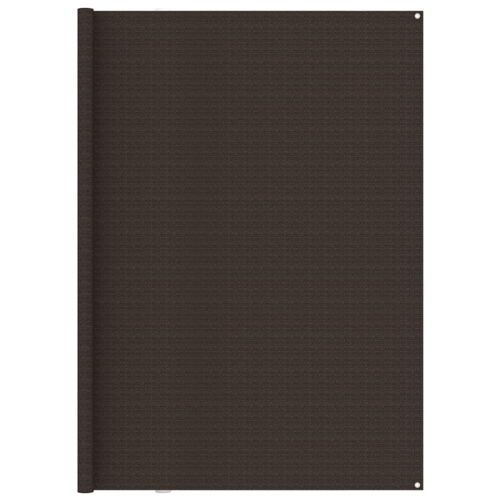 Zeltteppich 250x500 cm Braun
