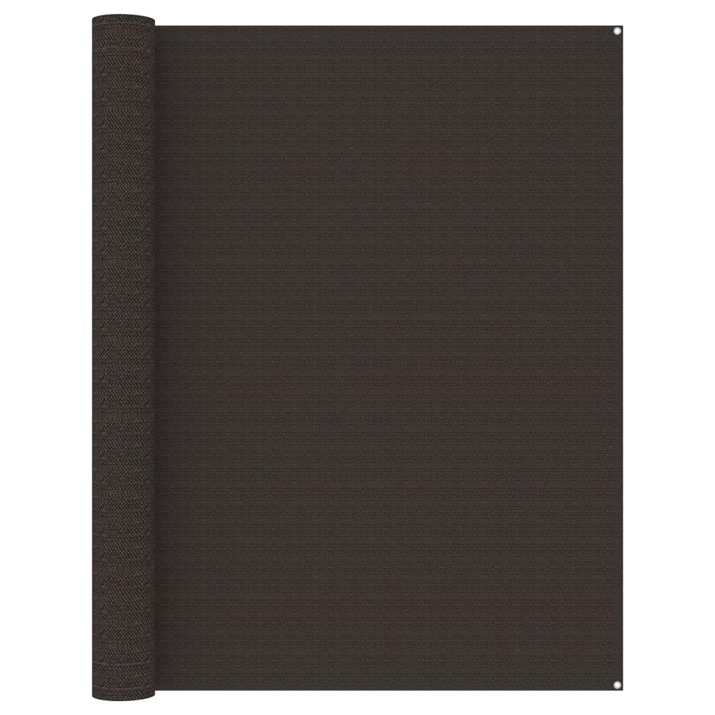 Zeltteppich 250x550 cm Braun