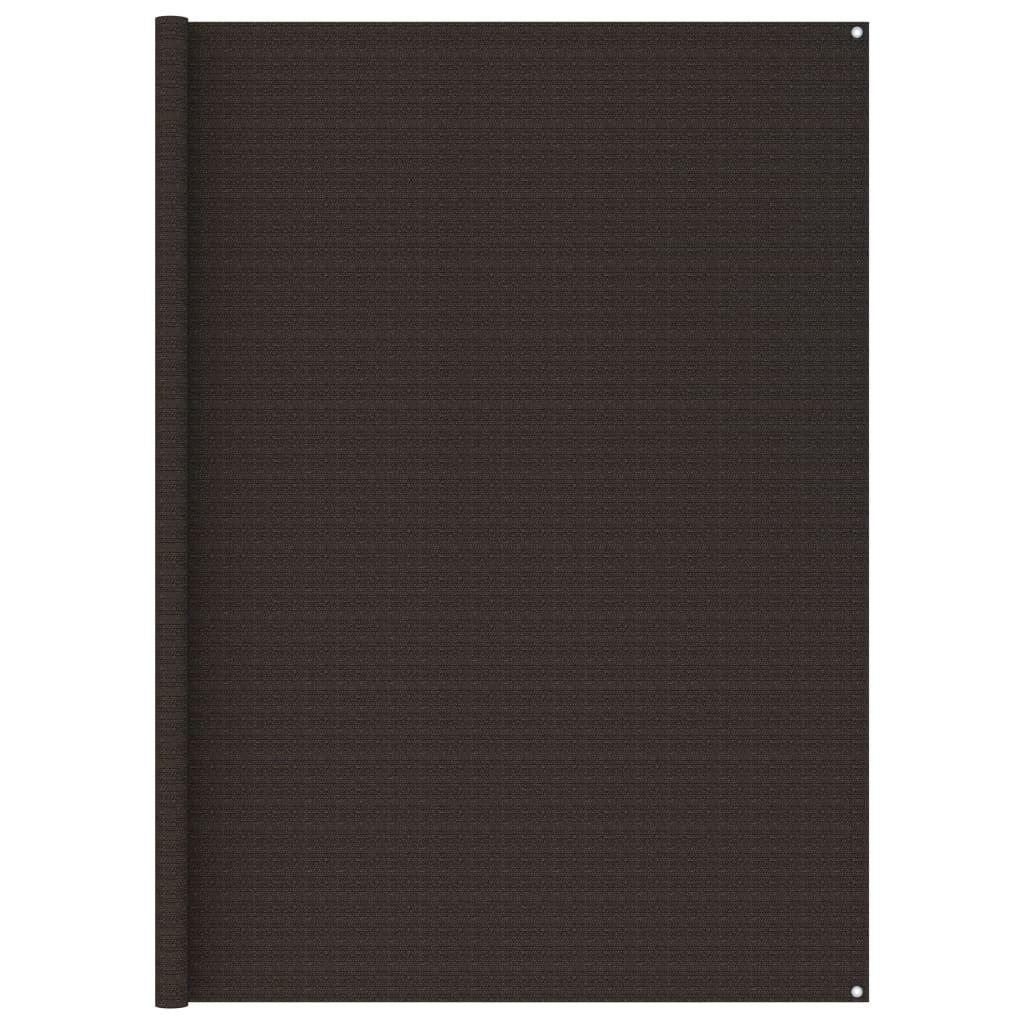 Zeltteppich 250x600 cm Braun