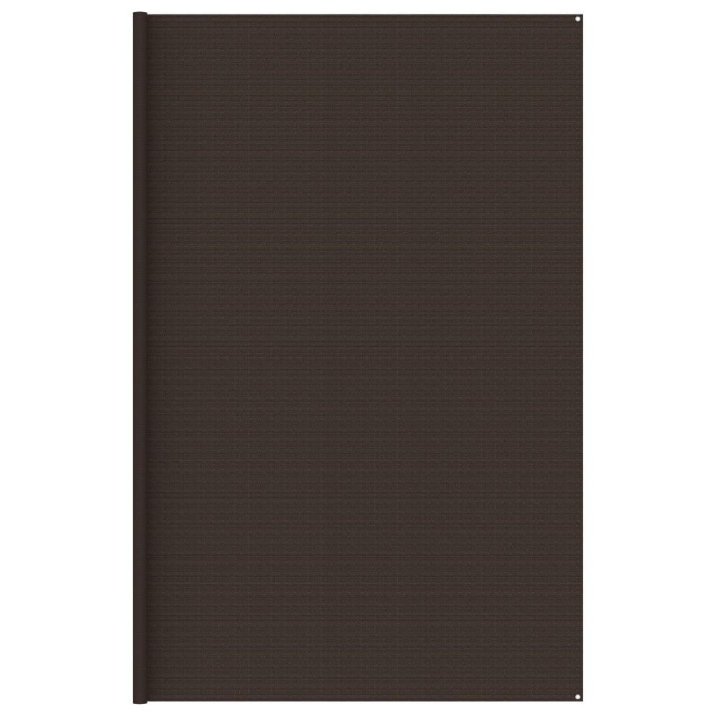 Zeltteppich 400x400 cm Braun