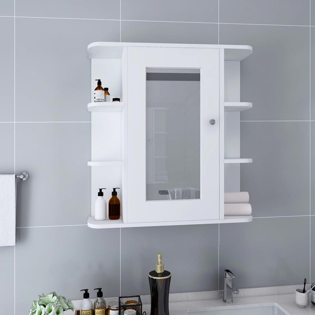 Bad-Spiegelschrank Weiß 66x17x63 cm MDF