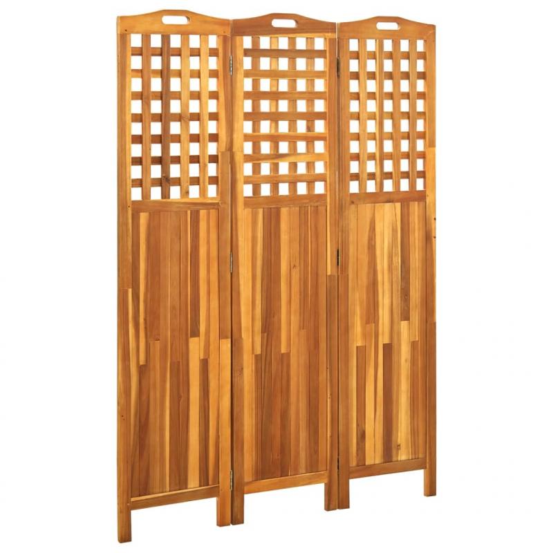 3-teiliger Raumteiler 121x2x170 cm Akazie Massivholz