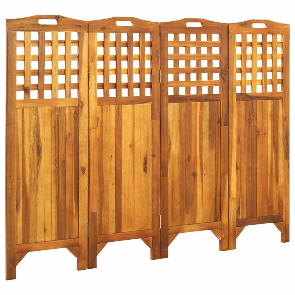 4-teiliger Raumteiler 161x2x120 cm Akazie Massivholz