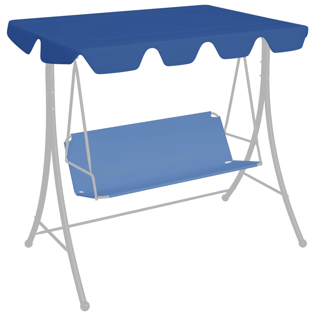 Ersatzdach für Hollywoodschaukel Blau 188/168x110/145 cm