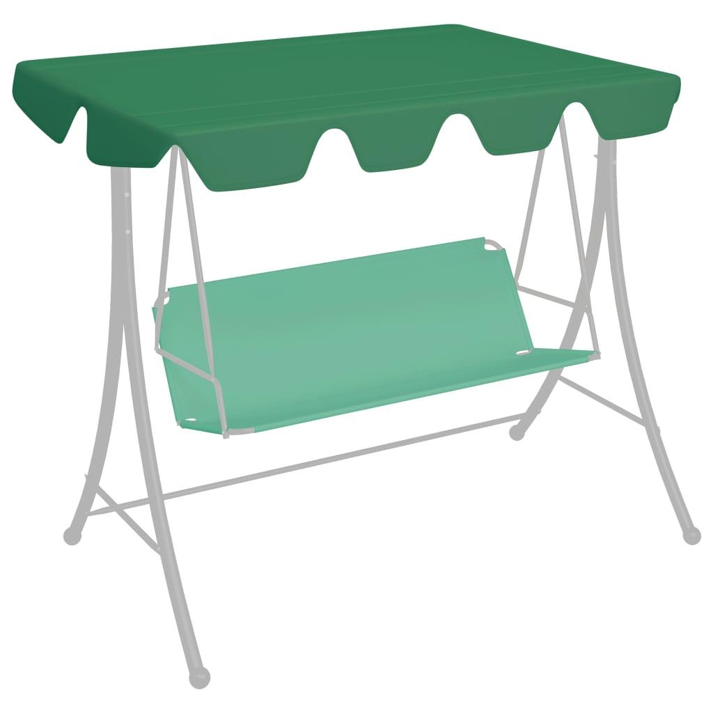 Ersatzdach für Hollywoodschaukel Grün 150/130x70/105 cm