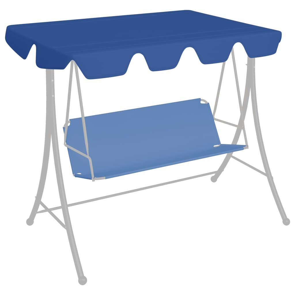 Ersatzdach für Hollywoodschaukel Blau 150/130x70/105 cm