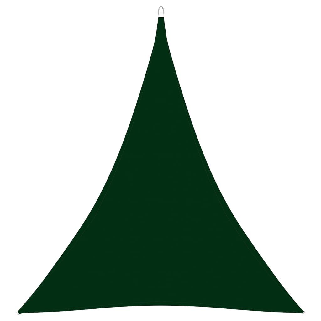 Sonnensegel Oxford-Gewebe Dreieckig 3x4x4 m Dunkelgrün