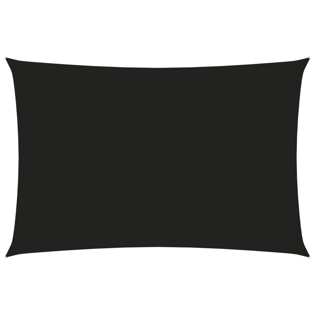 Sonnensegel Oxford-Gewebe Rechteckig 2x4 m Schwarz