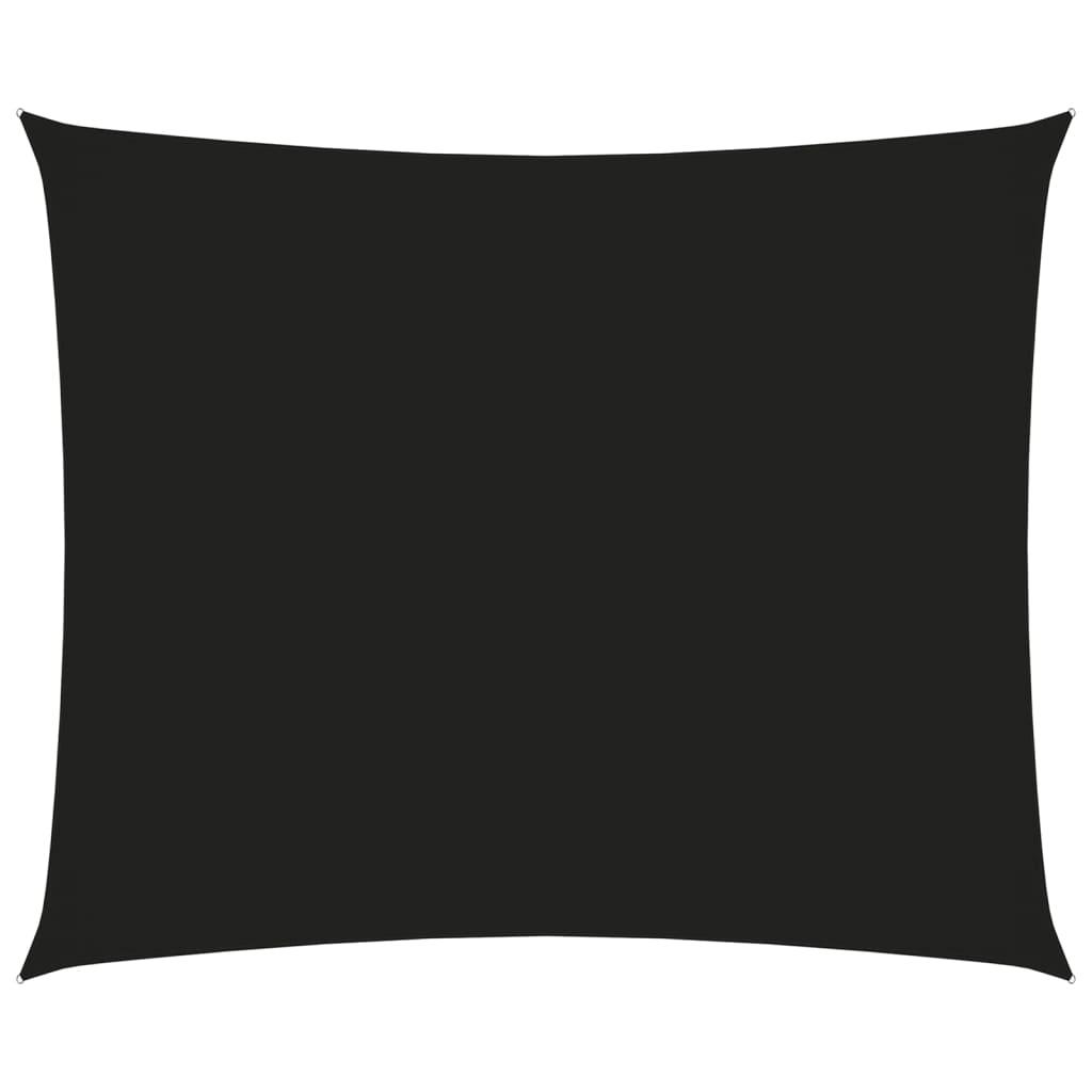 Sonnensegel Oxford-Gewebe Rechteckig 3x4 m Schwarz