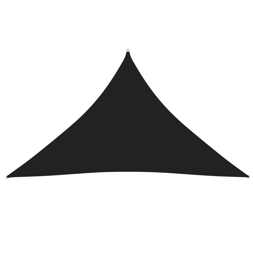 Sonnensegel Oxford-Gewebe Dreieckig 3,5x3,5x4,9 m Schwarz