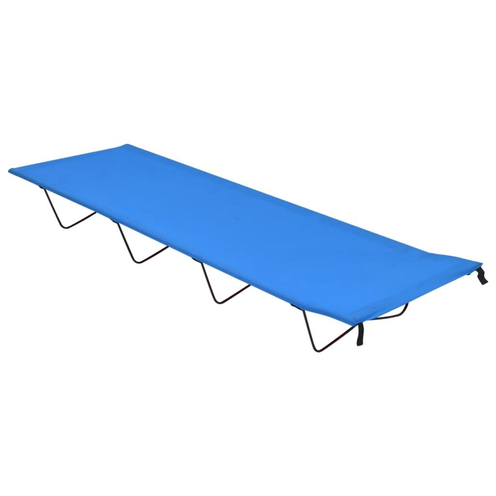 Campingbett 180x60x19 cm Oxford-Gewebe und Stahl Blau