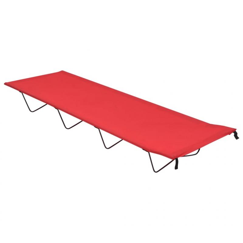 Campingbett 180x60x19 cm Oxford-Gewebe und Stahl Rot