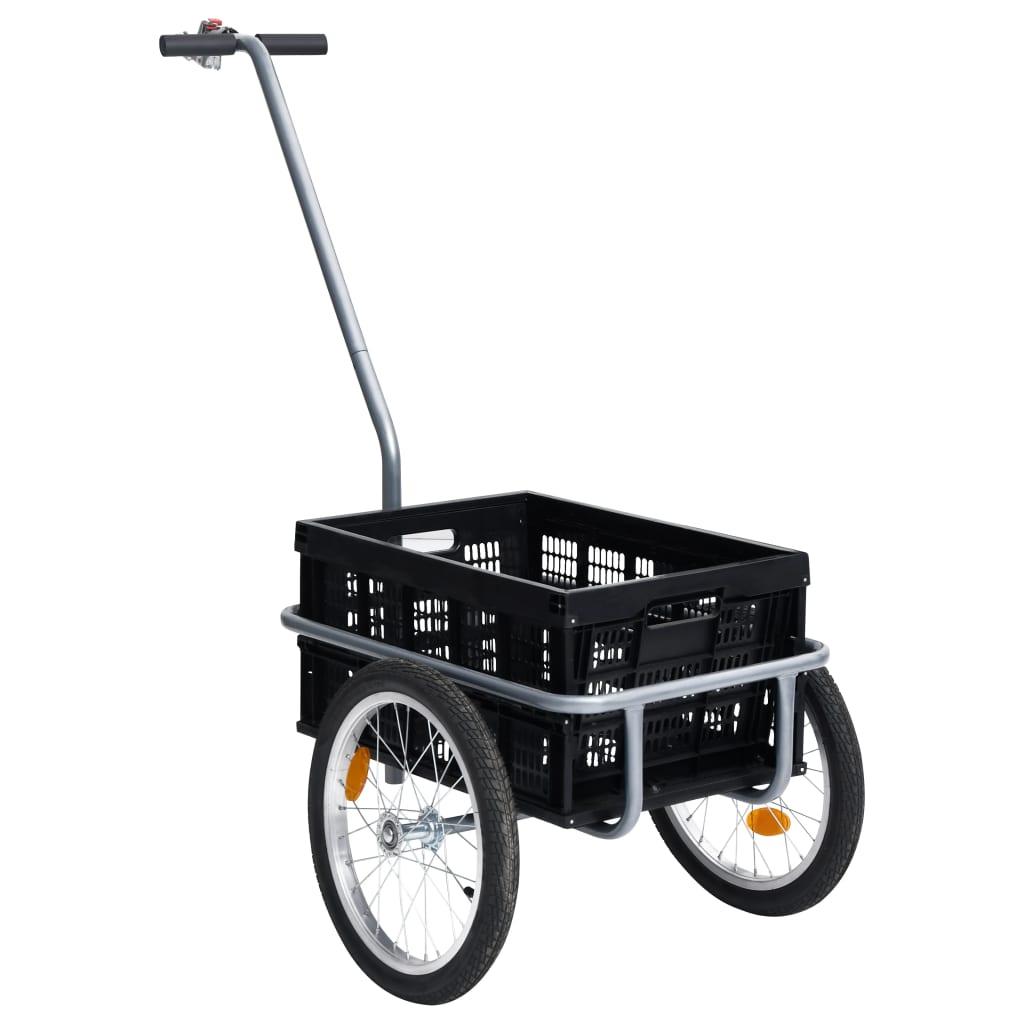 Fahrrad-Lastenanhänger Faltbare Transportbox 50 L Schwarz 150kg