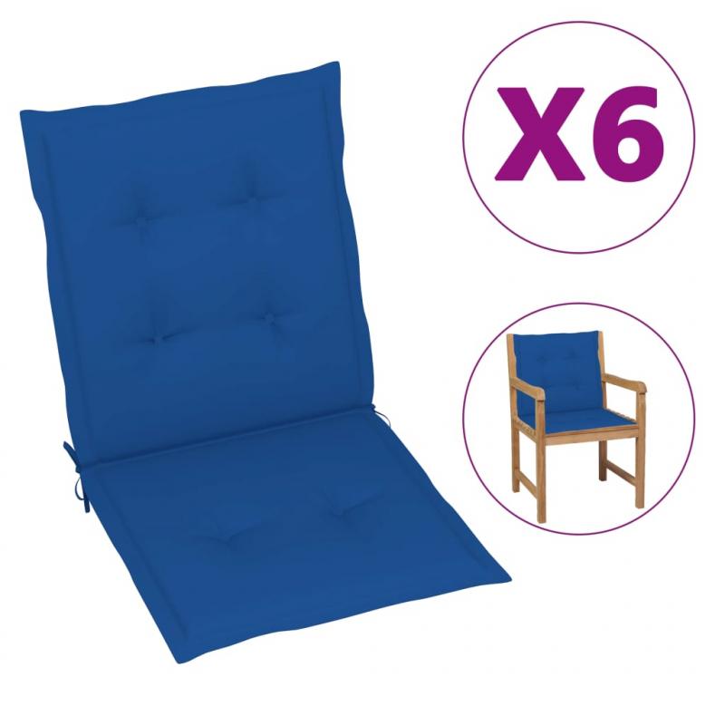 Gartenstuhlauflagen 6 Stk. Königsblau 100x50x4 cm