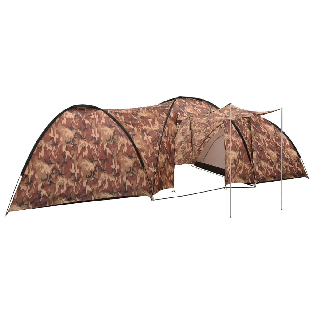 Camping-Igluzelt 650x240x190 cm 8 Personen Camouflage