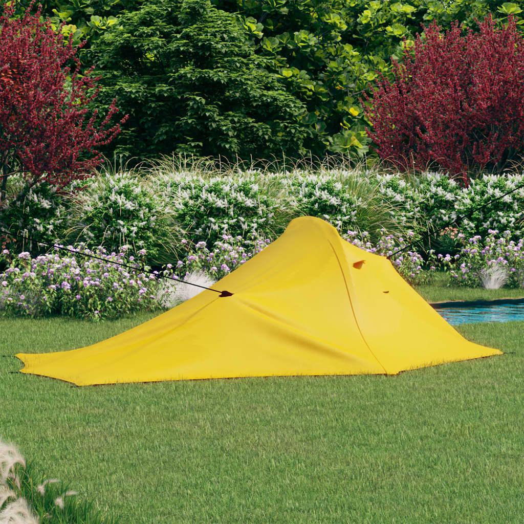 Campingzelt 317x240x100 cm Gelb