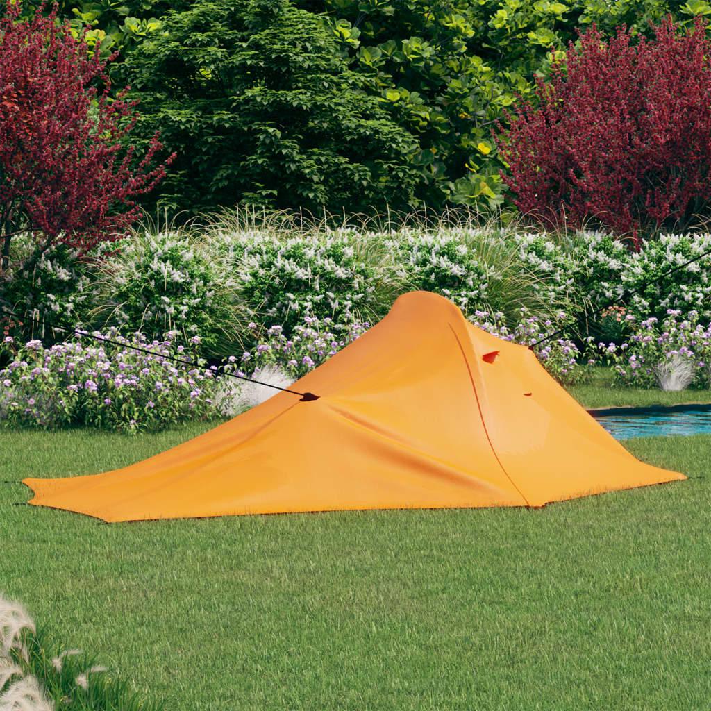 Campingzelt 317x240x100 cm Orange und Grau