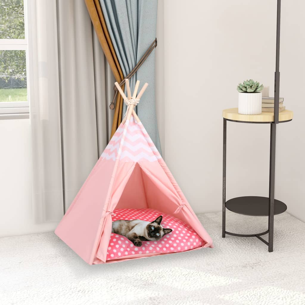 Katzen-Tipi-Zelt mit Tasche Pfirsichhaut Rosa 60x60x70 cm
