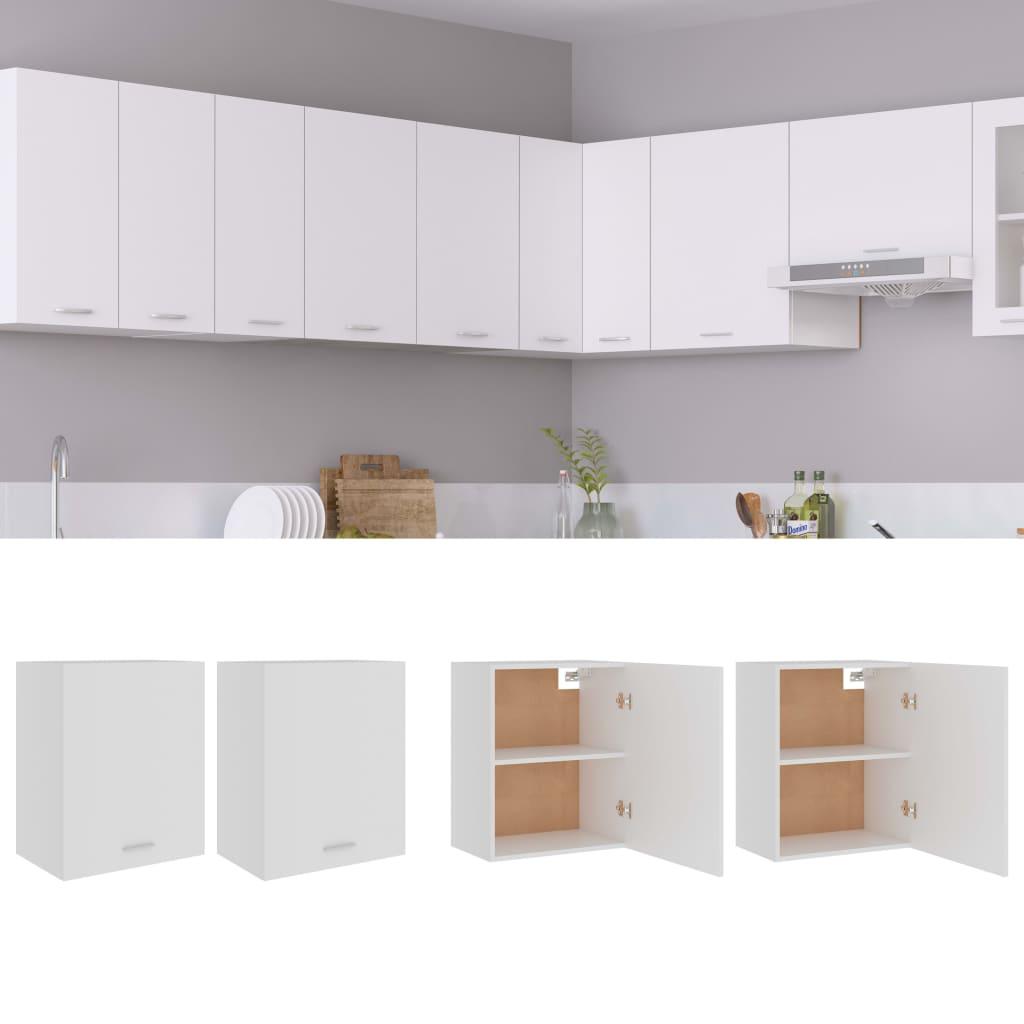 Küchenschränke 2 Stk. Weiß 50x31x60 cm Spanplatte