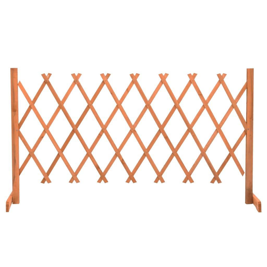 Garten-Rankzaun Orange 150x80 cm Massivholz Tanne
