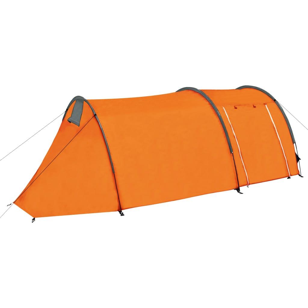 Campingzelt 4 Personen Grau und Orange