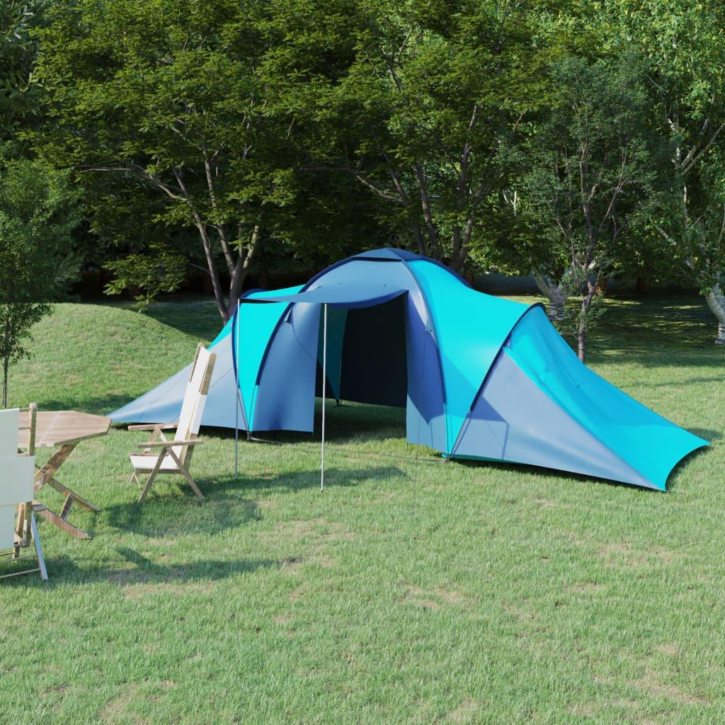 Campingzelt 6 Personen Blau und Hellblau