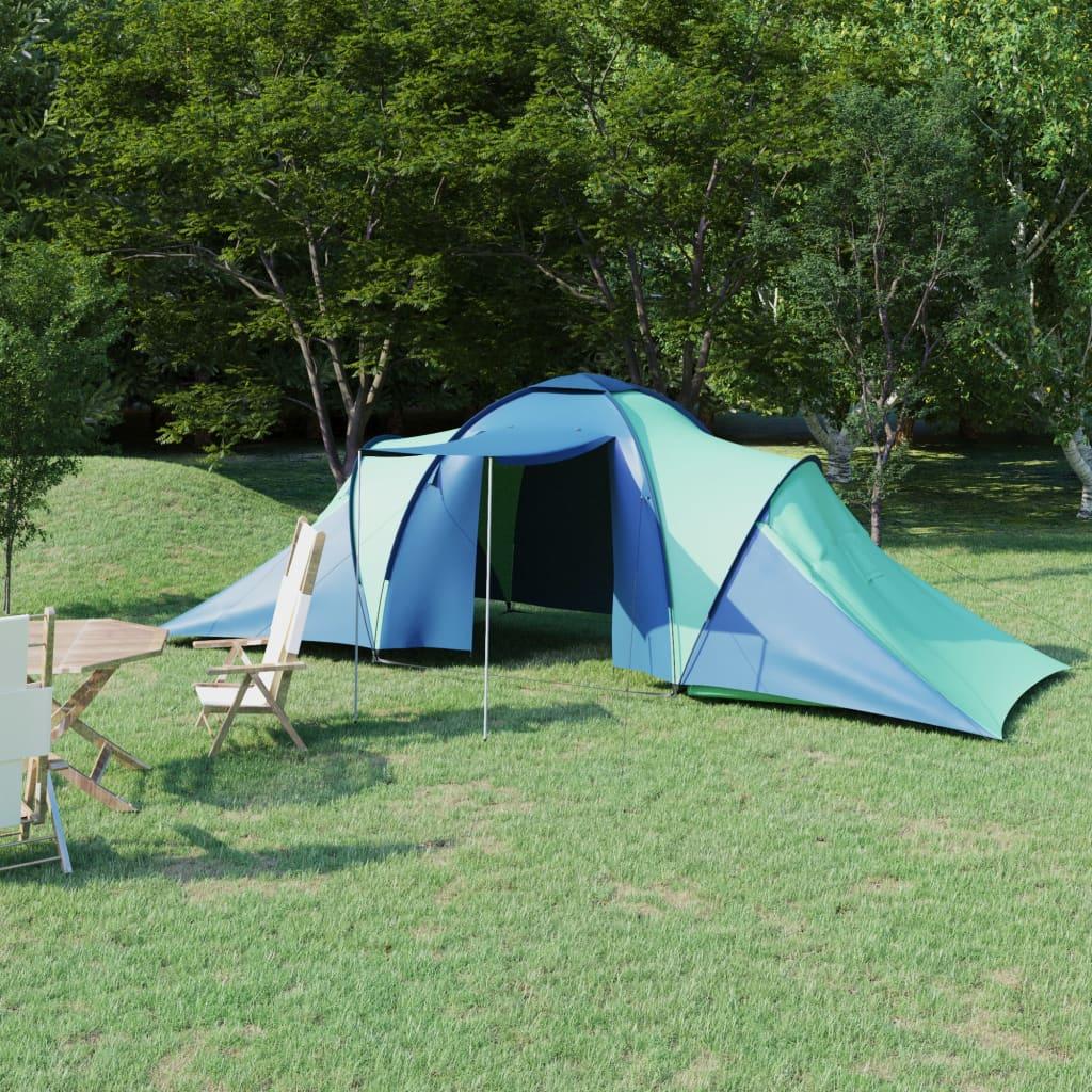 Campingzelt 6 Personen Blau und Grün