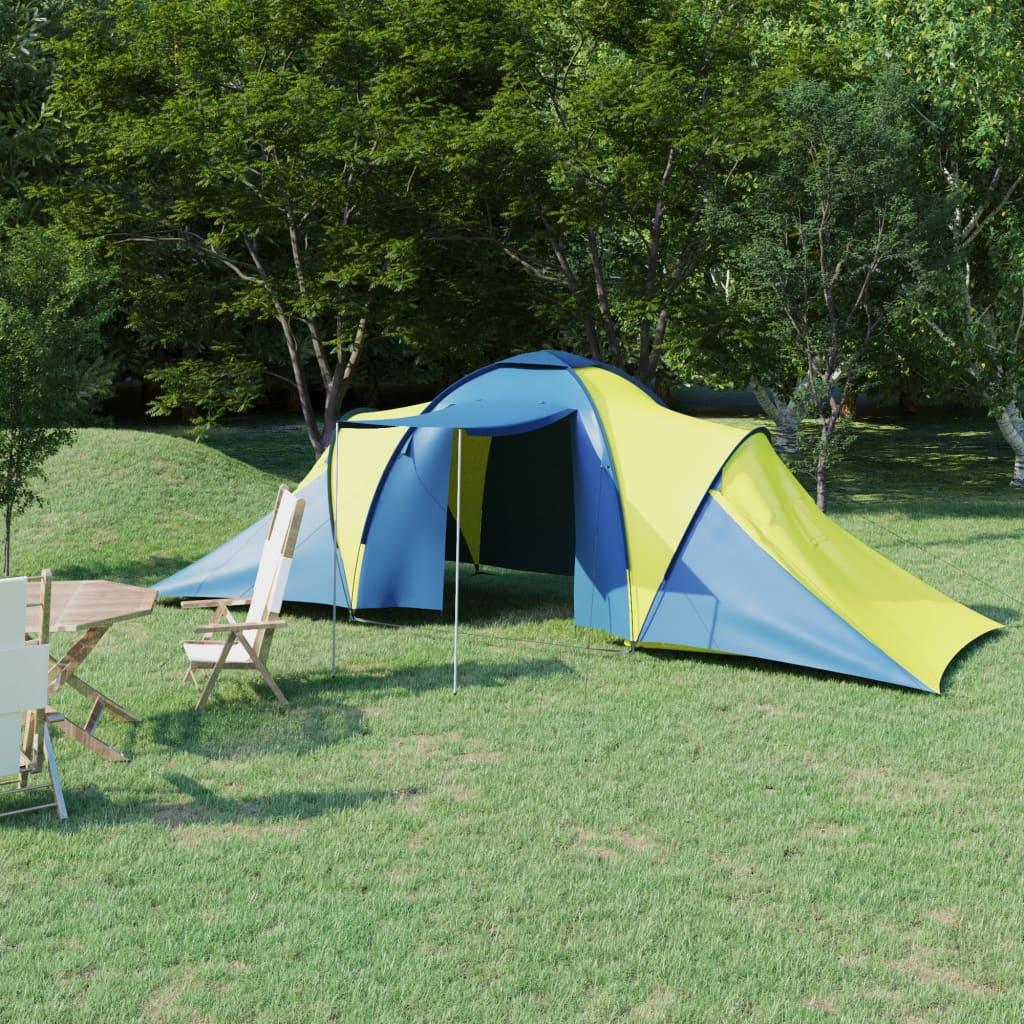 Campingzelt 6 Personen Blau und Gelb