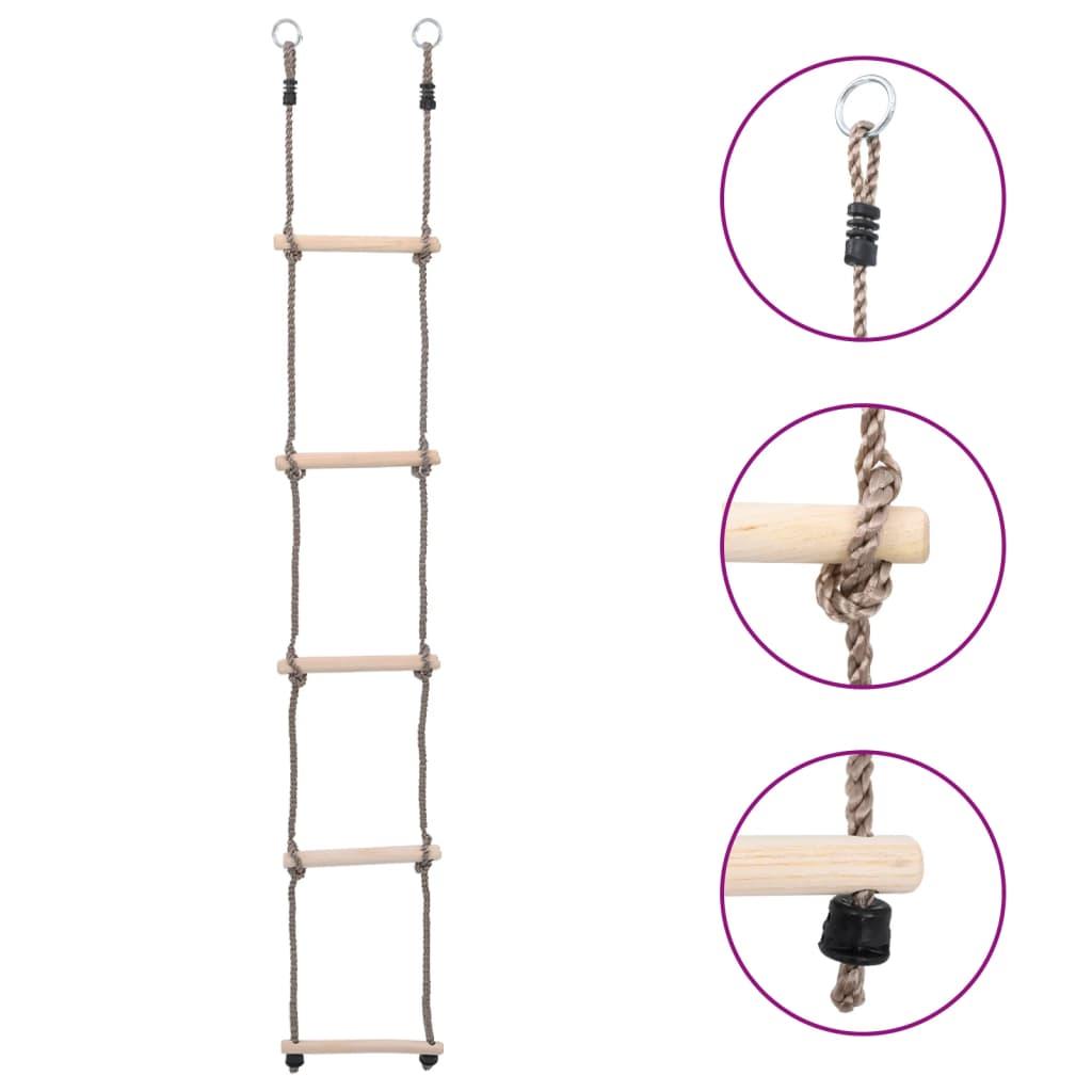 5-Stufen-Leiter 210 cm Kiefer Massivholz