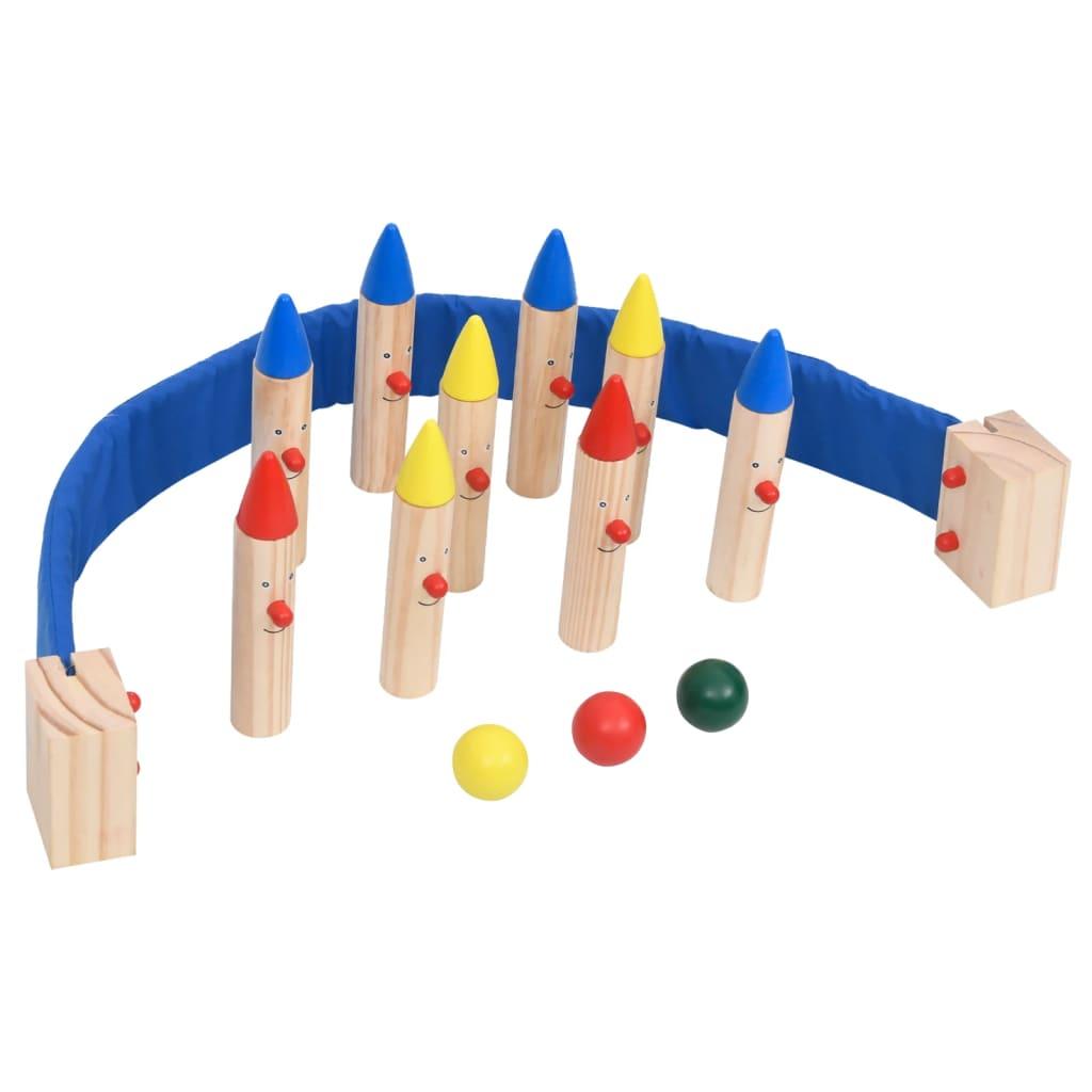 Bowlingspiel Mehrfarbig Kiefer Massivholz
