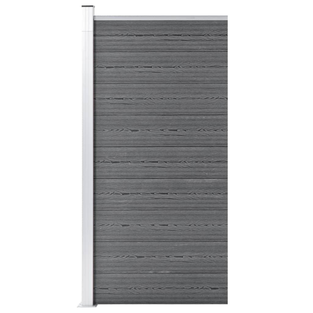 Zaunfeld WPC 95x186 cm Grau