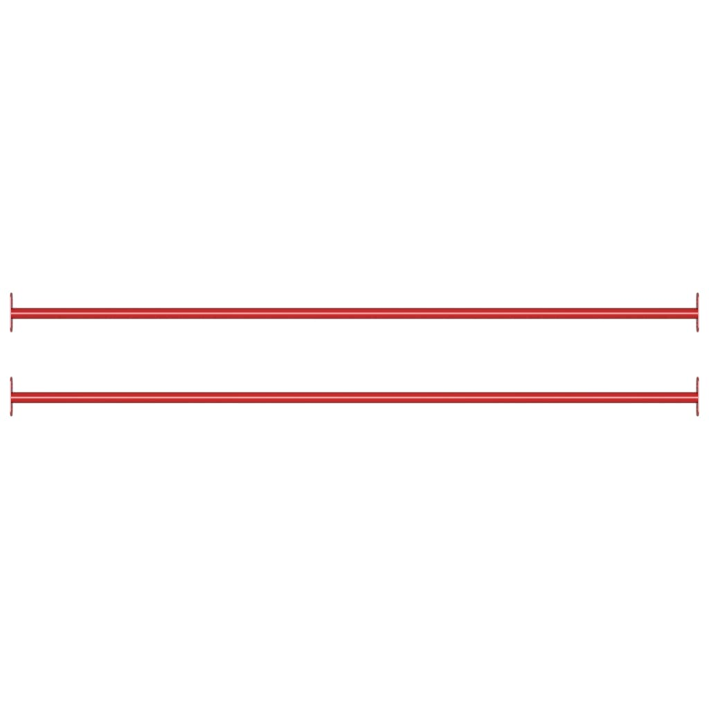 Turnstangen 2 Stk. 125 cm Stahl Rot