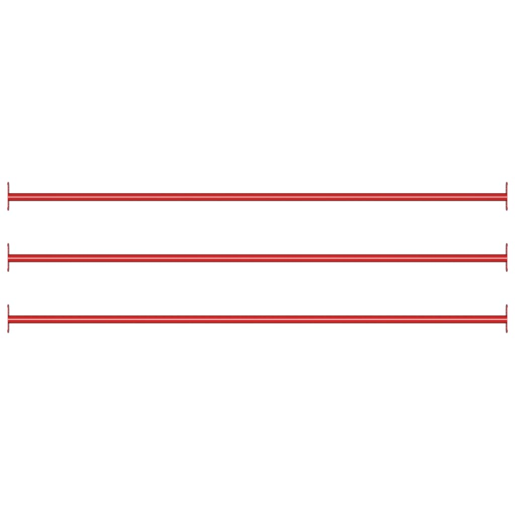 Turnstangen 3 Stk. 125 cm Stahl Rot