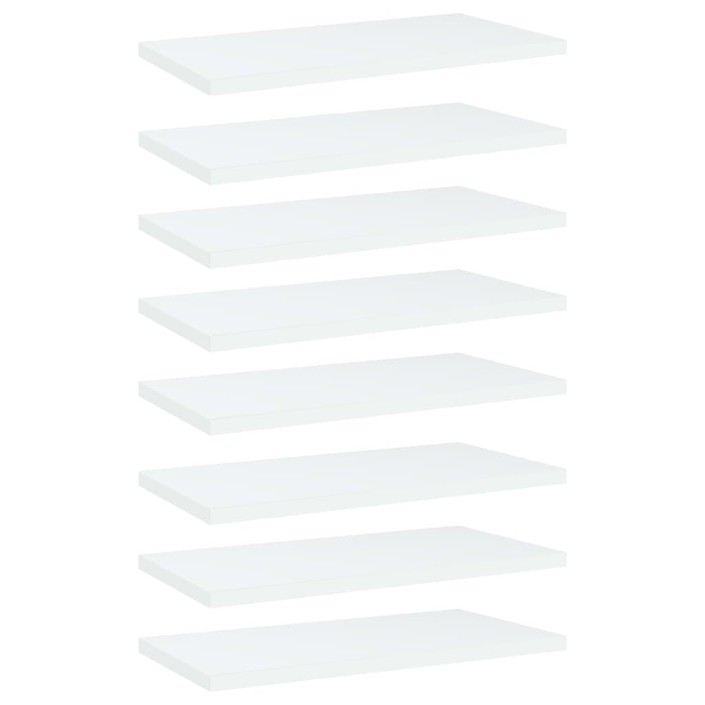 Bücherregal-Bretter 8 Stk. Weiß 40x20x1,5 cm Spanplatte