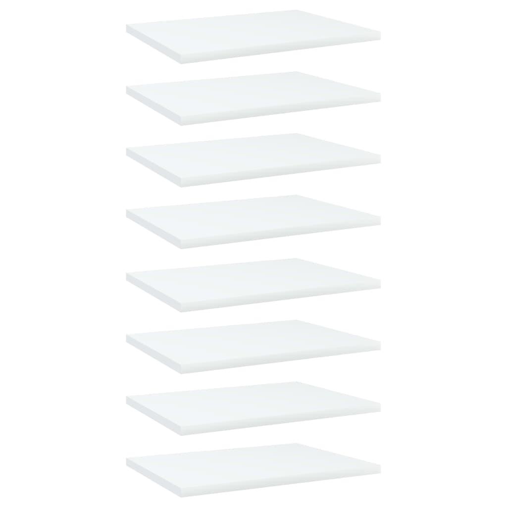 Bücherregal-Bretter 8 Stk. Weiß 40x30x1,5 cm Spanplatte