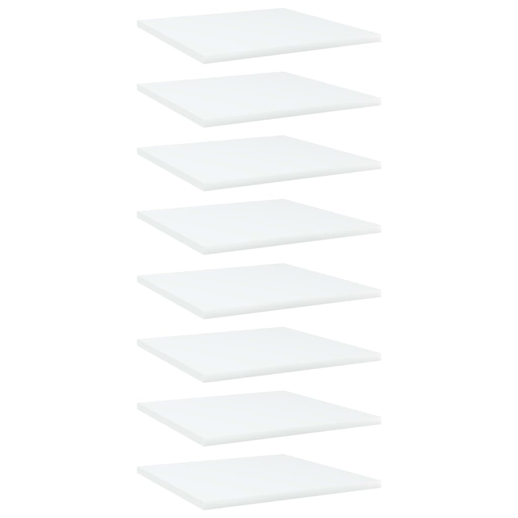 Bücherregal-Bretter 8 Stk. Weiß 40x40x1,5 cm Spanplatte