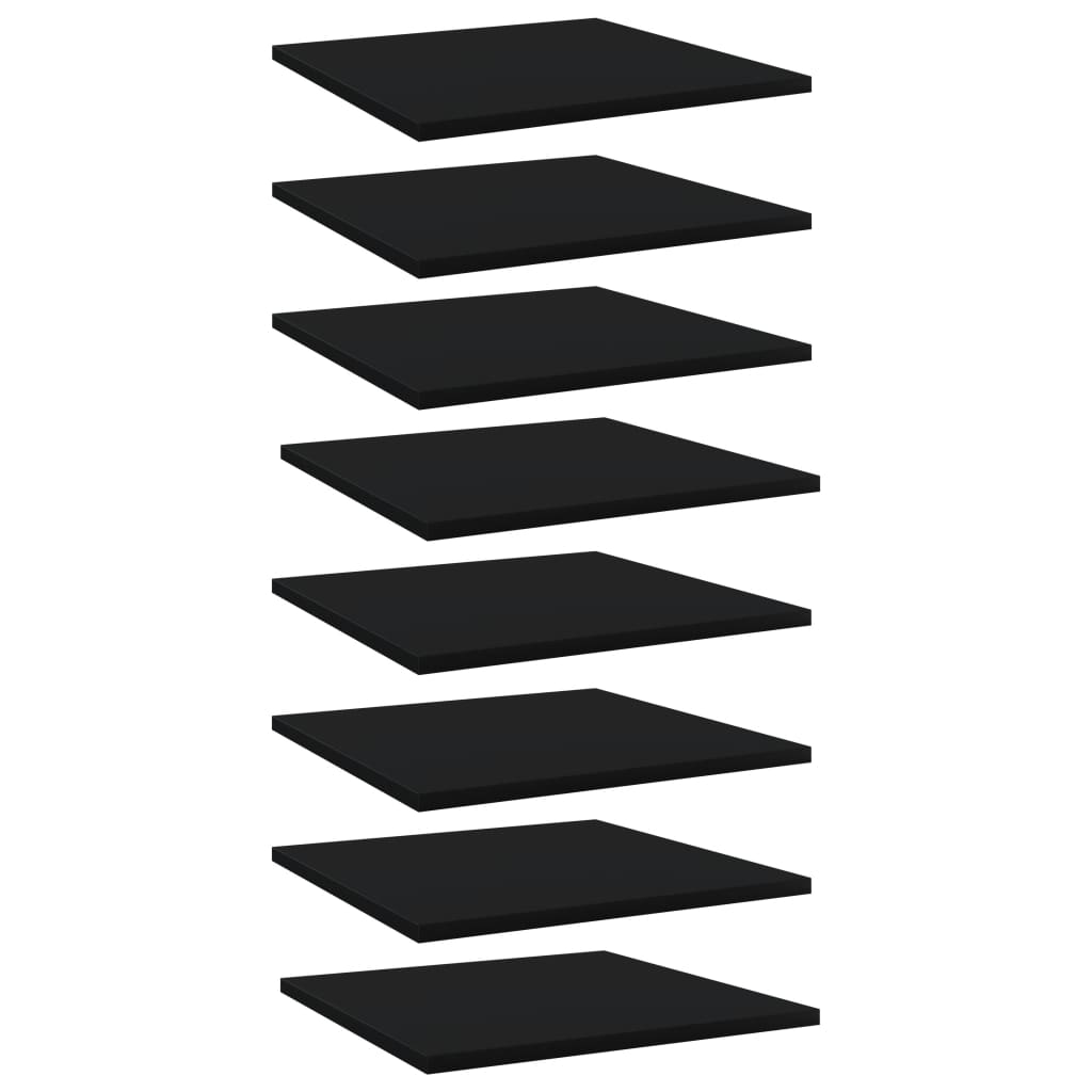 Bücherregal-Bretter 8 Stk. Schwarz 40x40x1,5 cm Spanplatte
