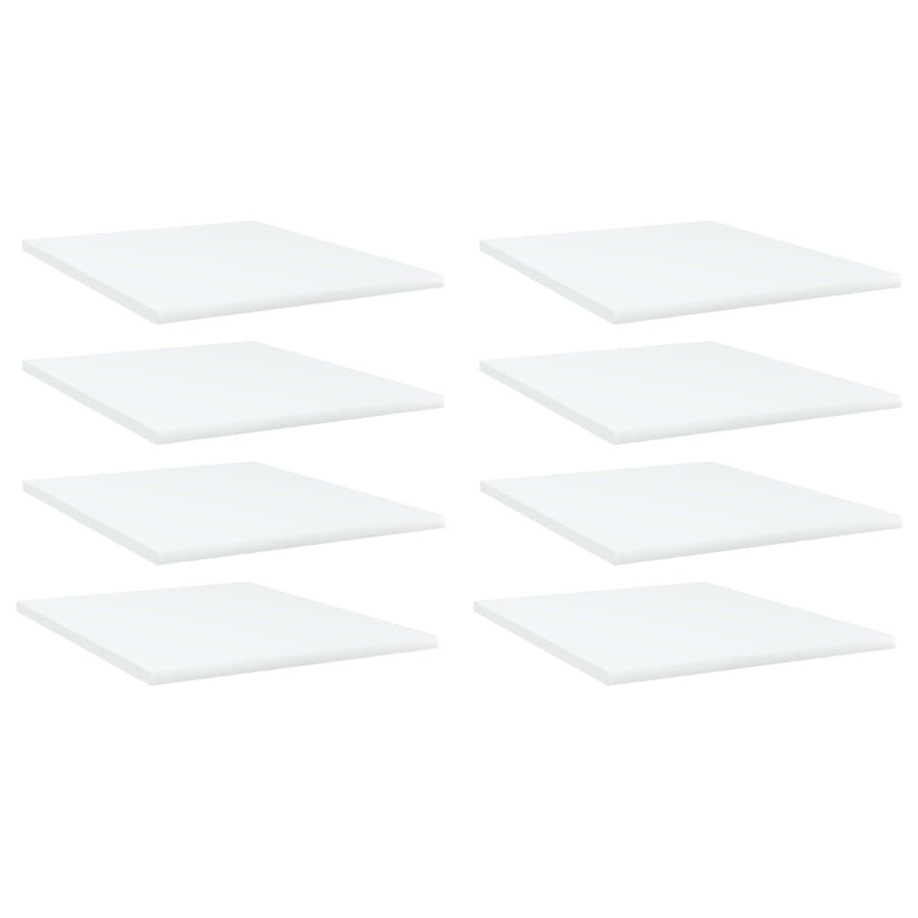 Bücherregal-Bretter 8 Stk. Weiß 40x50x1,5 cm Spanplatte