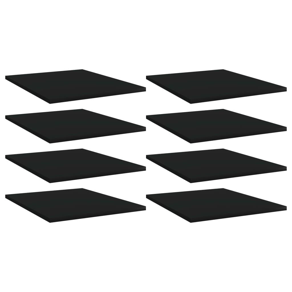 Bücherregal-Bretter 8 Stk. Schwarz 40x50x1,5 cm Spanplatte