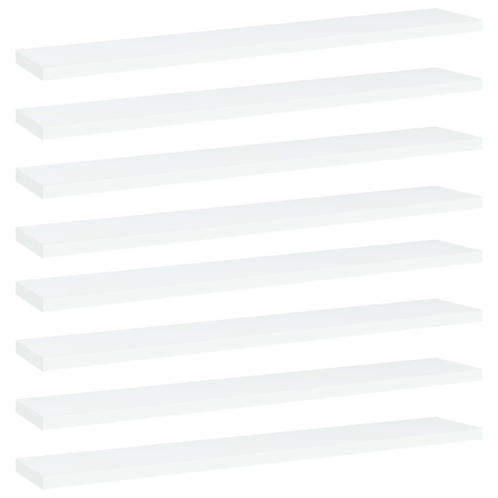 Bücherregal-Bretter 8 Stk. Weiß 60x10x1,5 cm Spanplatte