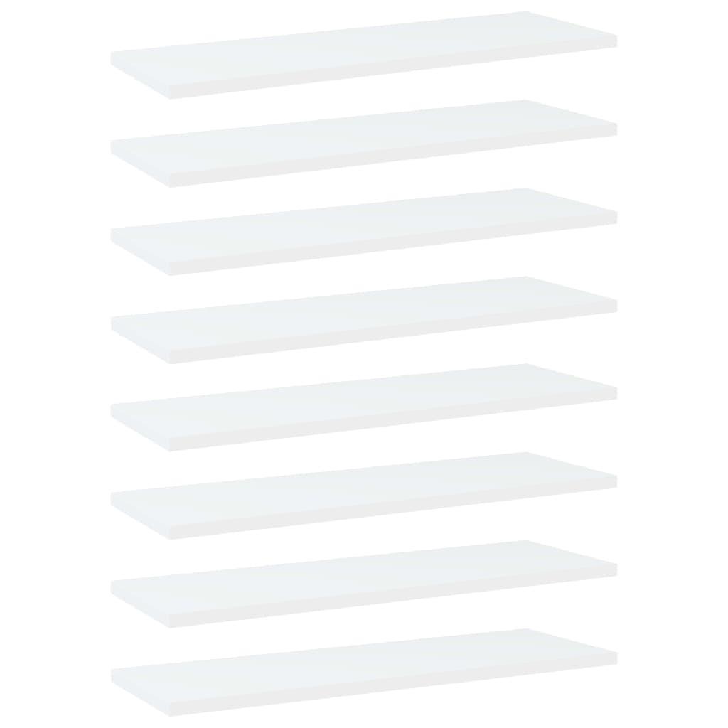 Bücherregal-Bretter 8 Stk. Weiß 60x20x1,5 cm Spanplatte