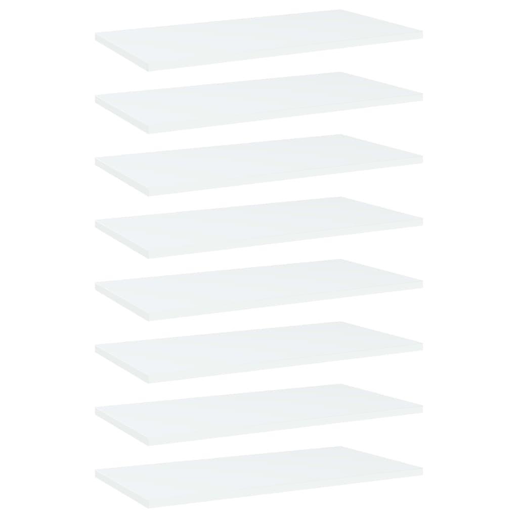Bücherregal-Bretter 8 Stk. Weiß 60x30x1,5 cm Spanplatte