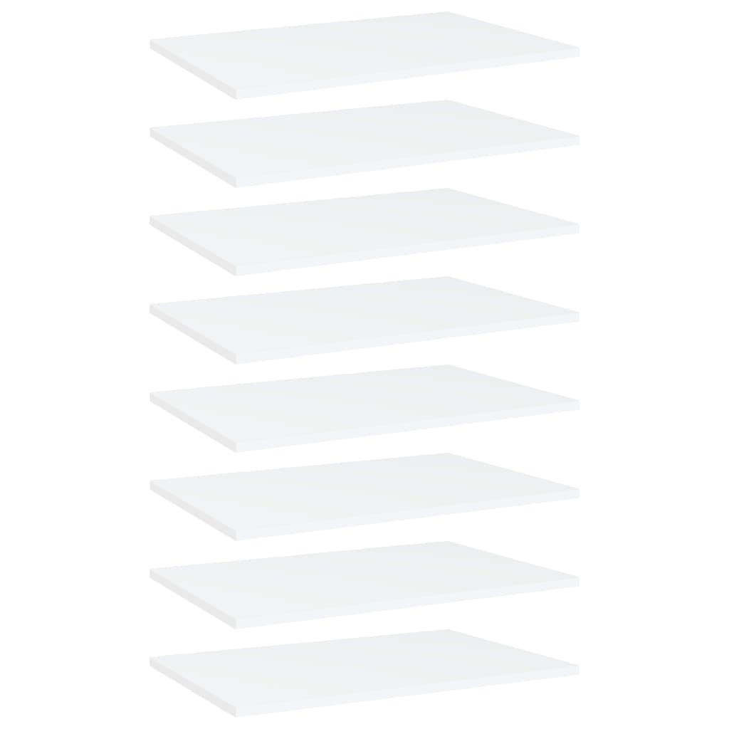 Bücherregal-Bretter 8 Stk. Weiß 60x40x1,5 cm Spanplatte