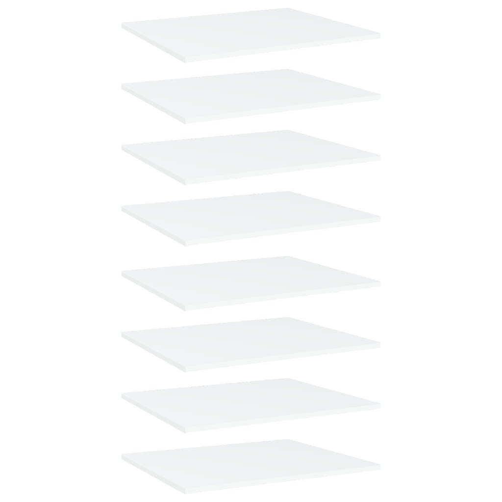 Bücherregal-Bretter 8 Stk. Weiß 60x50x1,5 cm Spanplatte