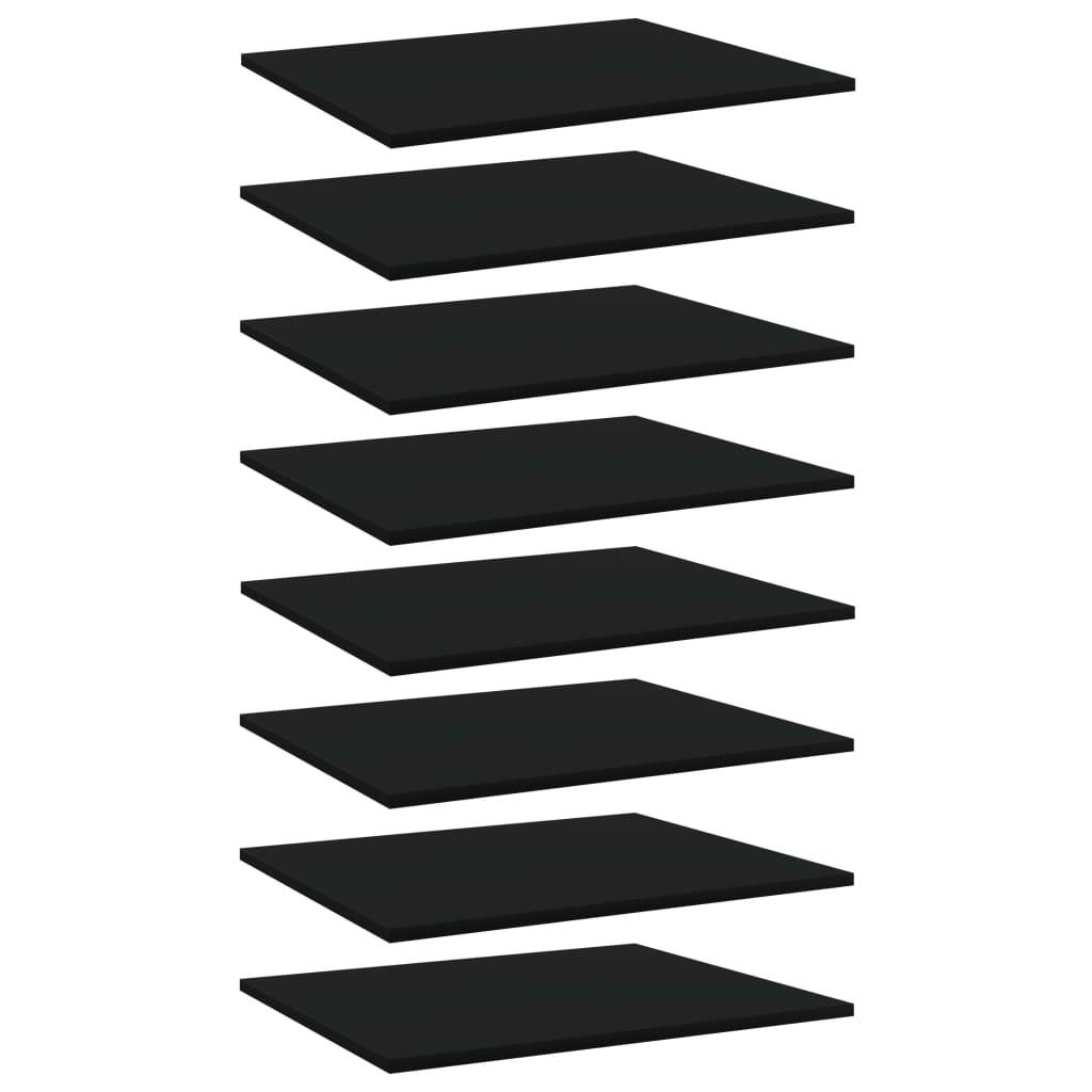 Bücherregal-Bretter 8 Stk. Schwarz 60x50x1,5 cm Spanplatte