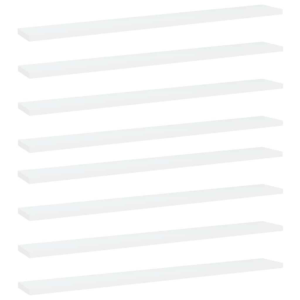 Bücherregal-Bretter 8 Stk. Weiß 80x10x1,5 cm Spanplatte