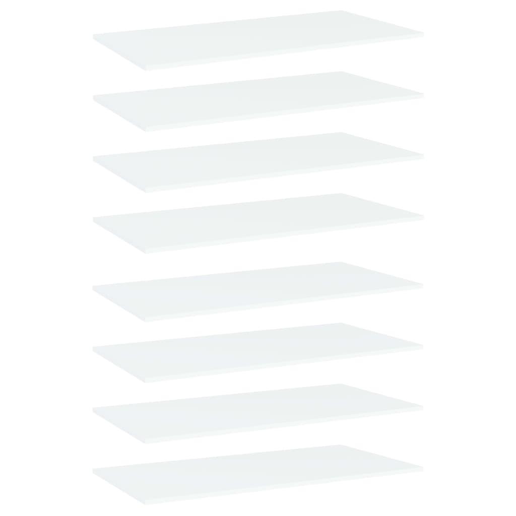 Bücherregal-Bretter 8 Stk. Weiß 80x20x1,5 cm Spanplatte